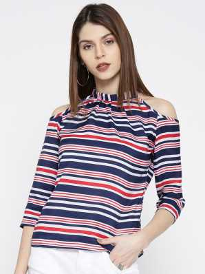 14e7e60f8d1b4 Cold Shoulder Tops - Buy Cut Out Shoulder Tops Online at Best Prices In  India