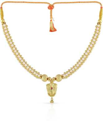 a01062cef8e27 Gold Necklace - Buy Gold Chain Necklace online at Best Prices in ...