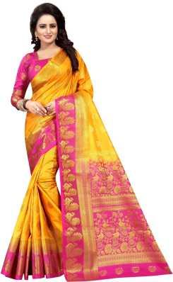 7ab232bc769 Kanjivaram Silk Sarees - Buy Kanjivaram Silk Sarees online at Best ...
