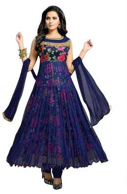 7cabf71227 Semi Stitched Salwar Suit Dupatta Material Dress Materials - Buy ...