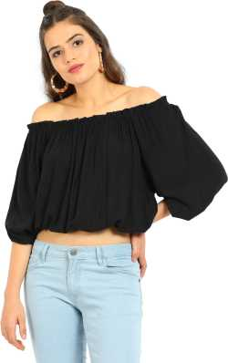 013226ea540d Off Shoulder Tops - Buy Off Shoulder Tops   One Shoulder Tops Online at  Best Prices In India
