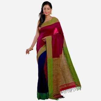 824de1973d35c1 Jute Sarees - Buy Jute Silk Sarees Online at Best Prices In India ...