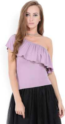 3ec3ec80ee1 One Shoulder Tops - Buy One Shoulder Tops online at Best Prices in ...