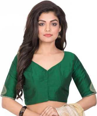 0704401bc2 Green Blouses - Buy Green Blouses Online at Best Prices In India |  Flipkart.com