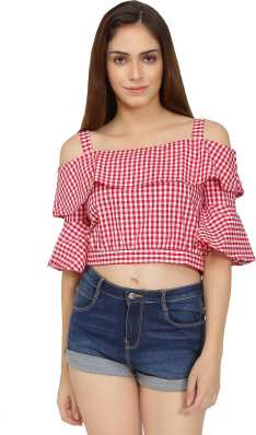 1a628c9ee8e644 Crop Tops - Buy Crop Tops Online at Best Prices In India