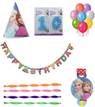 PEPUP Frozen Themed Kids 10th Birthday Party Decoration