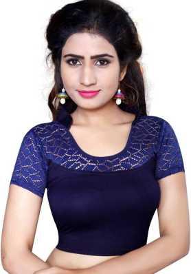 ad5f9fd9d1e54 Rust Indigo Peterpan Collar Ajrakh Gajji Silk Blouse By Jaypore