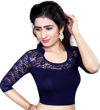 Stand Collar Neck Designs For Blouse : Collar neck blouses buy collar neck blouses online at best