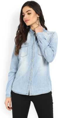 caff1161e49 Womens Denim Shirts - Buy Denim Shirts For Women Online at Best ...