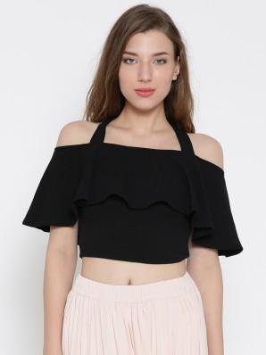 Fashion Kids Girls Lace Stripes Off Shoulder Crop Top Pants Outfits Clothes US