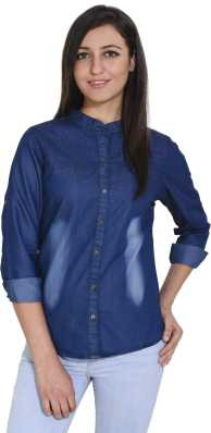 d02d270a0 Womens Denim Shirts - Buy Denim Shirts For Women Online at Best ...