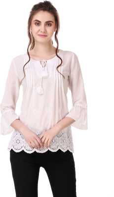 c83f3343a4 Floral Embroidered Tops - Buy Floral Embroidered Tops online at Best ...