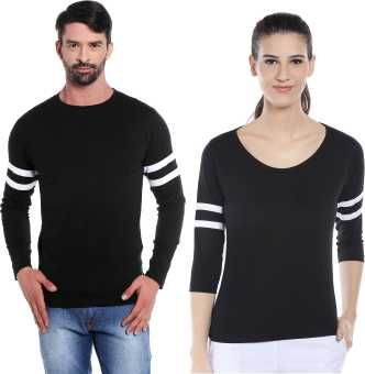 87a19b8a5a4 Couple T Shirts - Buy Couple T Shirts online at Best Prices in India ...