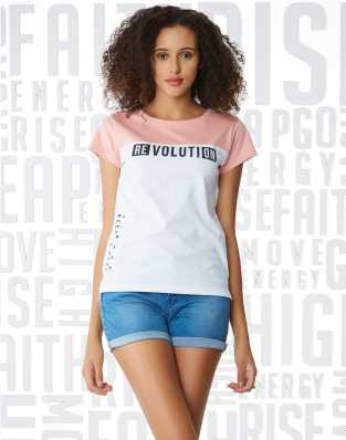 7738b00b Women T-Shirts - Buy Polos & T-Shirts for Women Online at Best Prices In  India | Flipkart.com