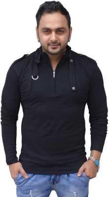 b693799e528d Solid Men & Women Turtle Neck Black T-Shirt. ₹399. ₹899. 55% off. Black  Collection