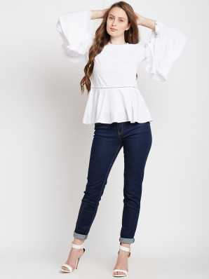 206b0cde09e04 Ruffles Tops - Buy Ruffles Tops Online at Best Prices In India ...