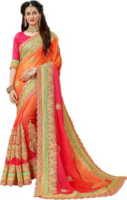 Heavy Work Sarees Buy Heavy Net Sarees With Stone Work Online At