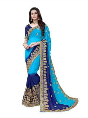ca8d3f0381612f Heavy Work Sarees - Buy Heavy Net Sarees With Stone Work Online at ...
