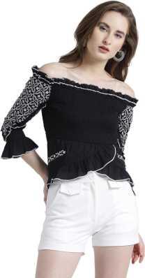 00c35a667d8 Off Shoulder Tops - Buy Off Shoulder Tops / One Shoulder Tops Online ...