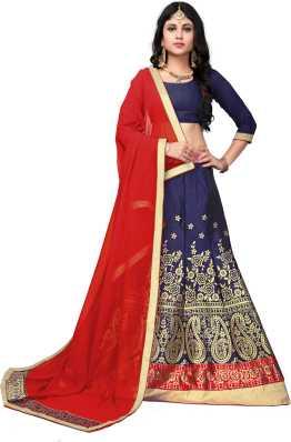 57ad1c5ff6 Red Lehenga Cholis - Buy Red Lehenga Cholis Online at Best Prices In India    Flipkart.com