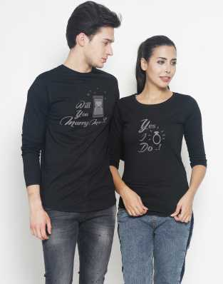 9cd8e4aeea0 Duo Couple Tshirts - Buy Duo Couple Tshirts Online at Best Prices In ...