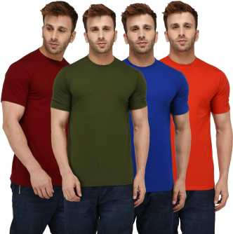 58ed213989a3 Plain T Shirts - Buy Plain T Shirts online at Best Prices in India ...