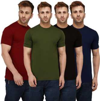 b6d2124fbbc Plain T Shirts - Buy Plain T Shirts online at Best Prices in India ...