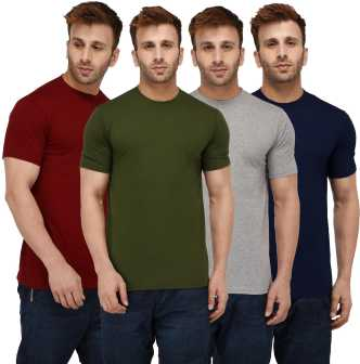 fc481ffe3e1e Plain T Shirts - Buy Plain T Shirts online at Best Prices in India ...