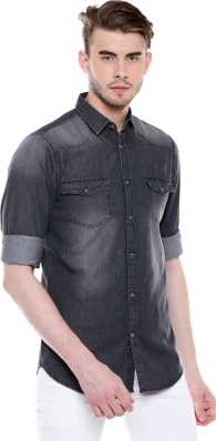 66100290fa Denim Shirts - Buy Denim Shirts Online at Best Prices In India ...
