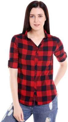 Trending. G.S.A ENTERPRISES. Women Checkered Casual Shirt 7e061b3793