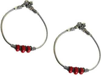 8f14fd3569a Silver Anklets - Buy Anklets, Silver Payal Designs Online at Best ...