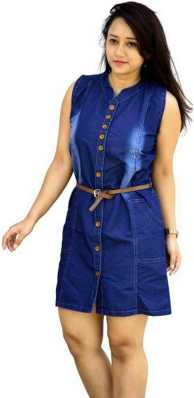 2a6544b888 Denim Dresses - Buy Denim Dresses Online at Best Prices In India ...