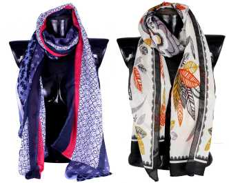222fa1d1a Typography Tees Scarves Stoles - Buy Typography Tees Scarves Stoles Online  at Best Prices In India