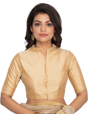 Stand Collar Neck Designs For Blouse : Saree blouses buy designer readymade blouses for women latest