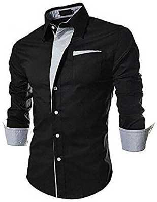 on sale 7ac41 de97a Black Shirts - Buy Black Shirts Online at Best Prices In India ...