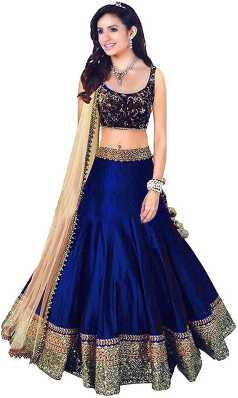 a1596402d1 Blue Lehenga Cholis - Buy Blue Lehenga Cholis Online at Best Prices In  India | Flipkart.com