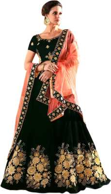 1014cd65a73f2f Black Lehenga Cholis - Buy Black Lehenga Cholis Online at Best ...
