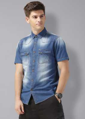 6064adc2b72 Denim Shirts - Buy Denim Shirts Online at Best Prices In India ...