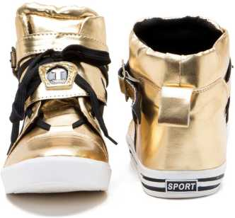 cdd2ffdfee Gold Shoes - Buy Gold Shoes online at Best Prices in India ...