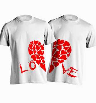 2bd12db0 Couple T Shirts - Buy Couple T Shirts online at Best Prices in India ...