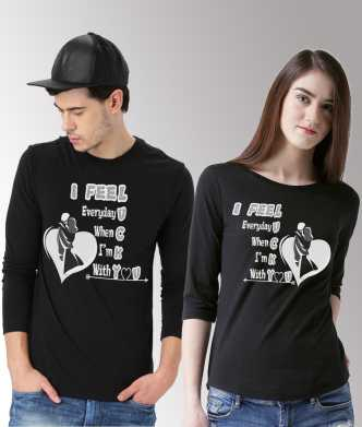 5f1698a75d Duo Couple Tshirts - Buy Duo Couple Tshirts Online at Best Prices In ...