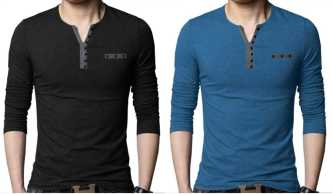 fcf7dcfe23f Henley Tshirts - Buy Henley Tshirts Online at Best Prices in India ...