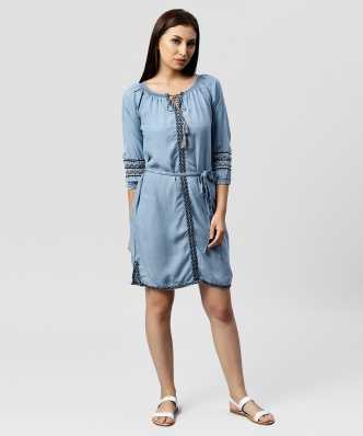0206e48cae Denim Dresses - Buy Denim Dresses Online at Best Prices In India ...