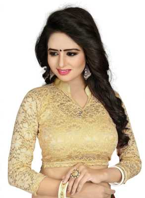 0dab392acc2302 Golden Blouse - Buy Golden Blouse Designs online at best prices -  Flipkart.com