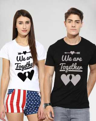 2f3342d9c609e Couple T Shirts - Buy Couple T Shirts online at Best Prices in India ...