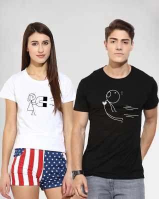 85a1719110 Couple T Shirts - Buy Couple T Shirts online at Best Prices in India ...