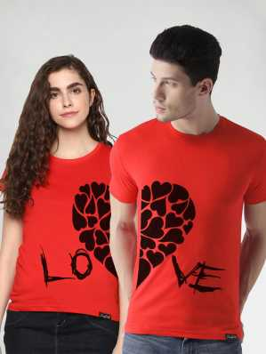 c0cbe6e6194 Couple T Shirts - Buy Couple T Shirts online at Best Prices in India ...