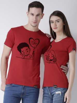 ab694ba071 Duo Couple Tshirts - Buy Duo Couple Tshirts Online at Best Prices In India  | Flipkart.com