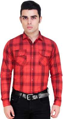 2a2705dd Red And Black Check Shirt - Buy Red And Black Check Shirt online at ...