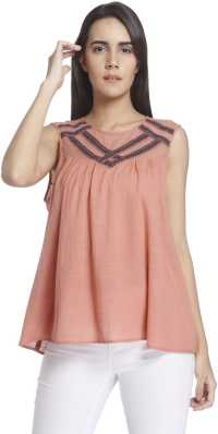 eafc8cfd0d0 Chiffon Tops - Buy Chiffon Tops Online at Best Prices In India ...
